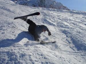 skiing-falling