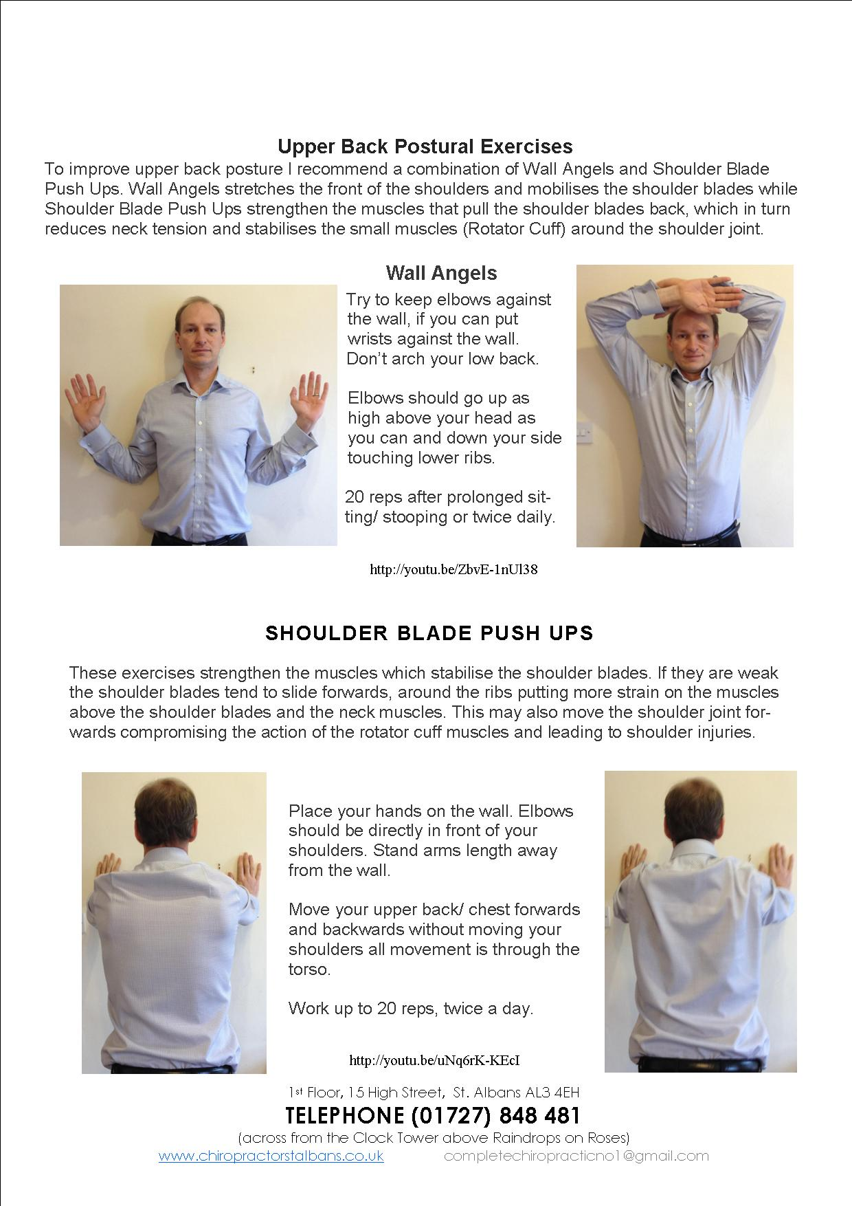 chiro for business wall angel and shoulder push up oct 2014